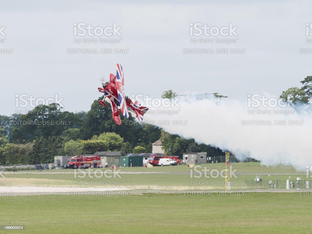 Aerobatics stock photo