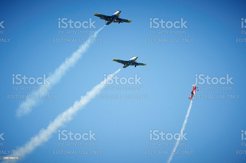aerobatics stock photo