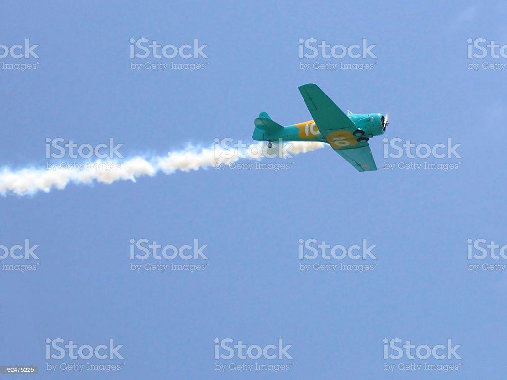 aerobatics plane royalty-free stock photo
