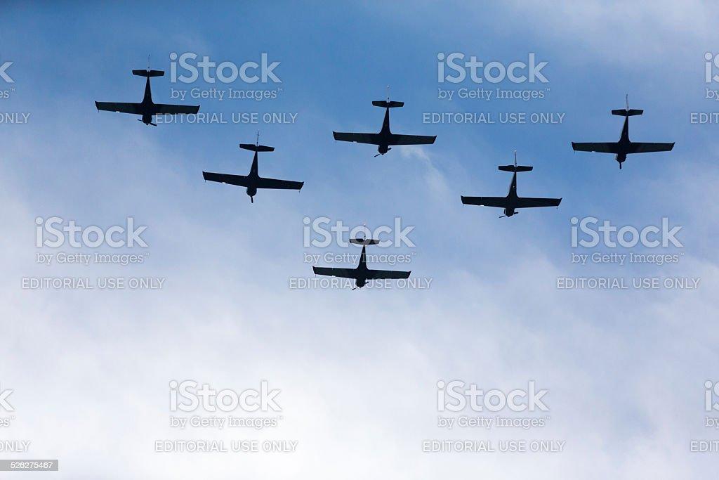 Aerobatics stunt stock photo