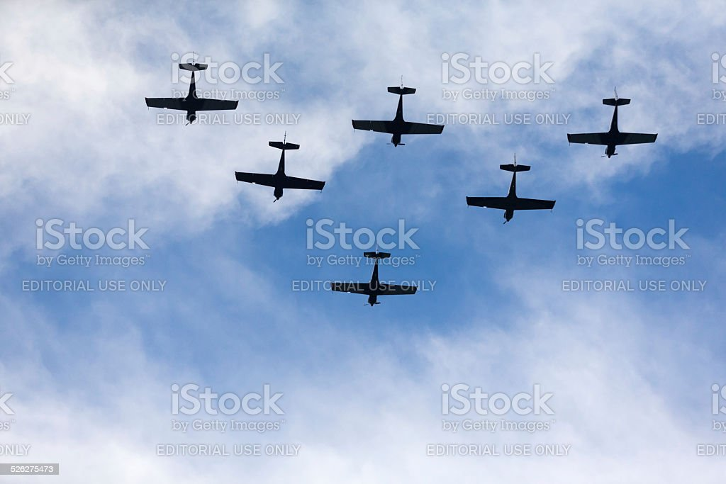 Aerobatics stunt stock photo