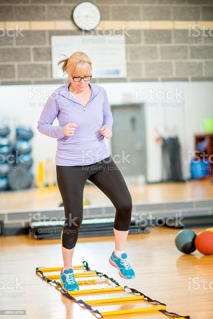 Aerobic Fitness Class stock photo