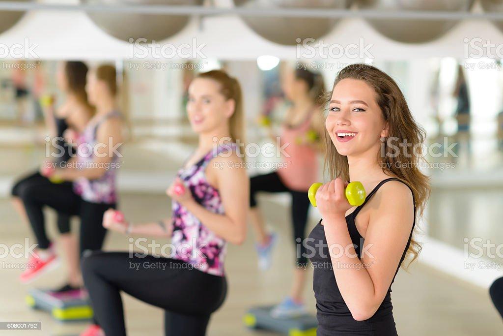 Aerobics at Gym stock photo