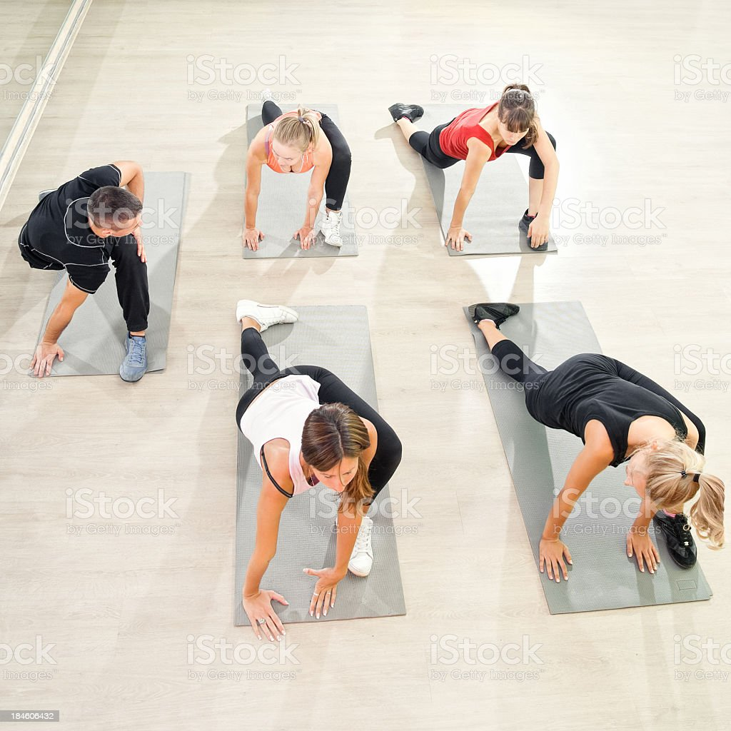 Aerobics class royalty-free stock photo
