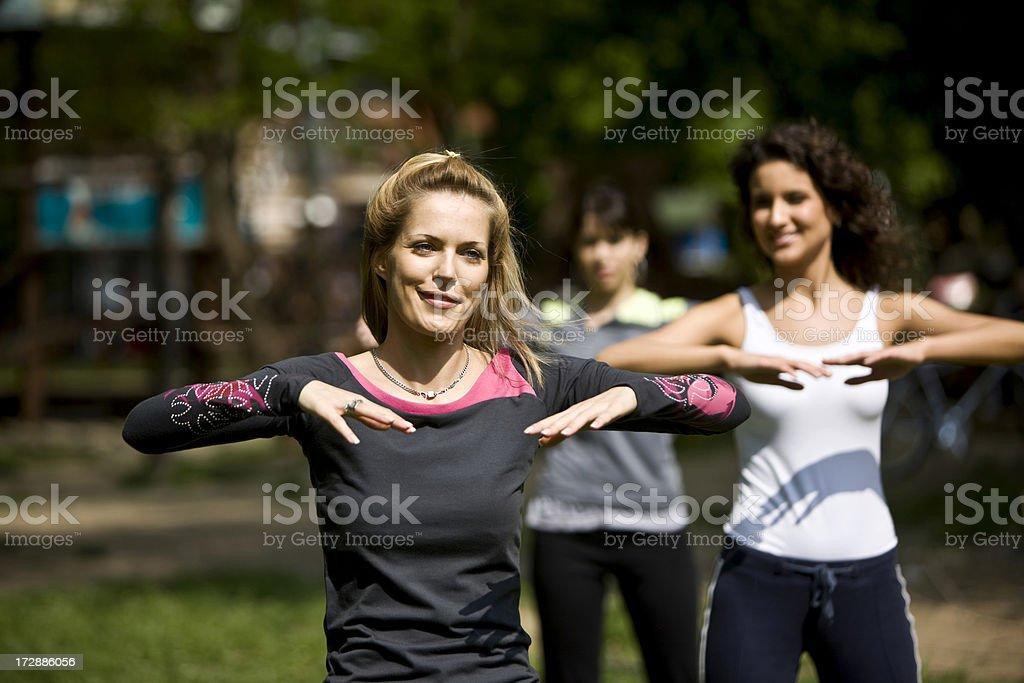 Aerobics royalty-free stock photo