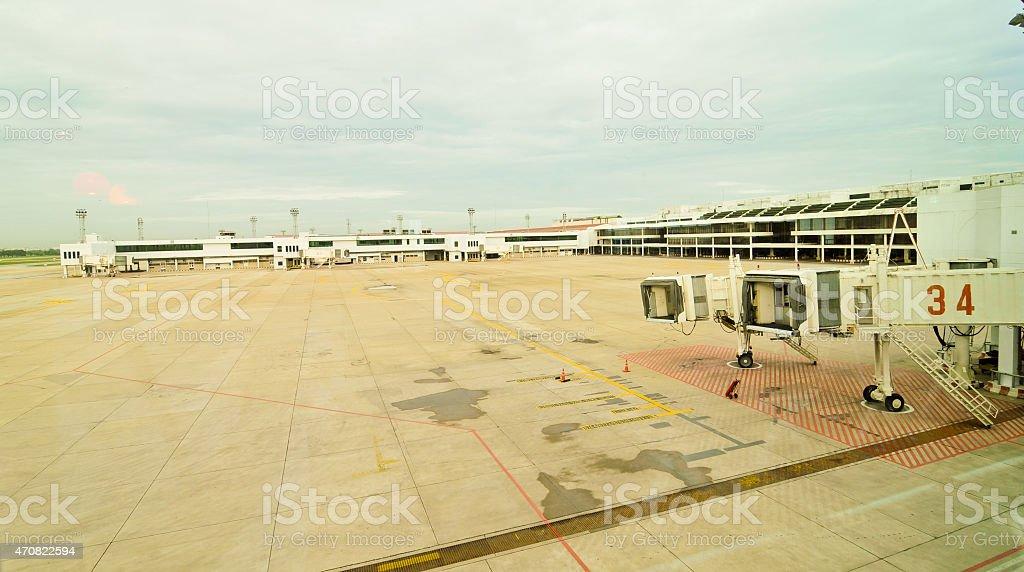 Aerobridge at Don Mueang International Airport (DMK) stock photo