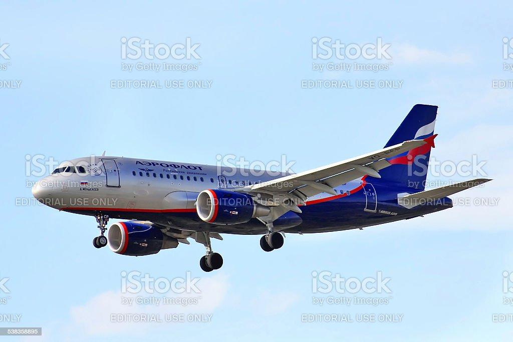 Aeroflot Airbus A319 stock photo