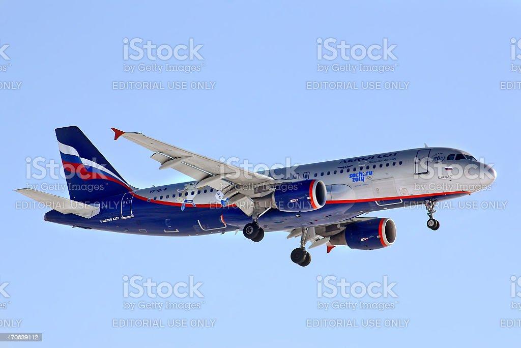 Aeroflot Airbus A320 stock photo