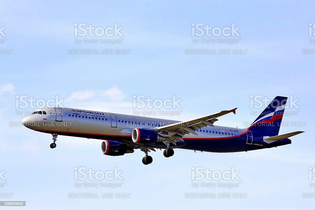 Aeroflot Airbus A321 stock photo