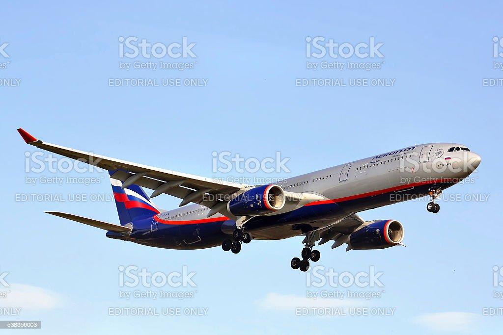 Aeroflot Airbus A330 stock photo