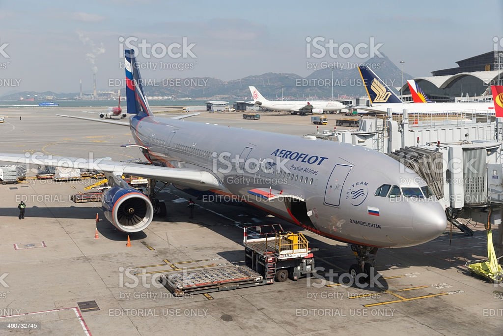 Aeroflot Russian Airlines Airbus A330 stock photo