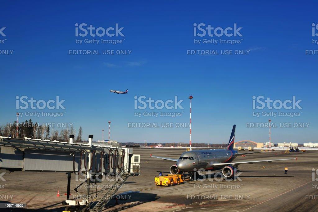 Aeroflot Russian Airlines at Sheremetyevo Airport Terminal D stock photo