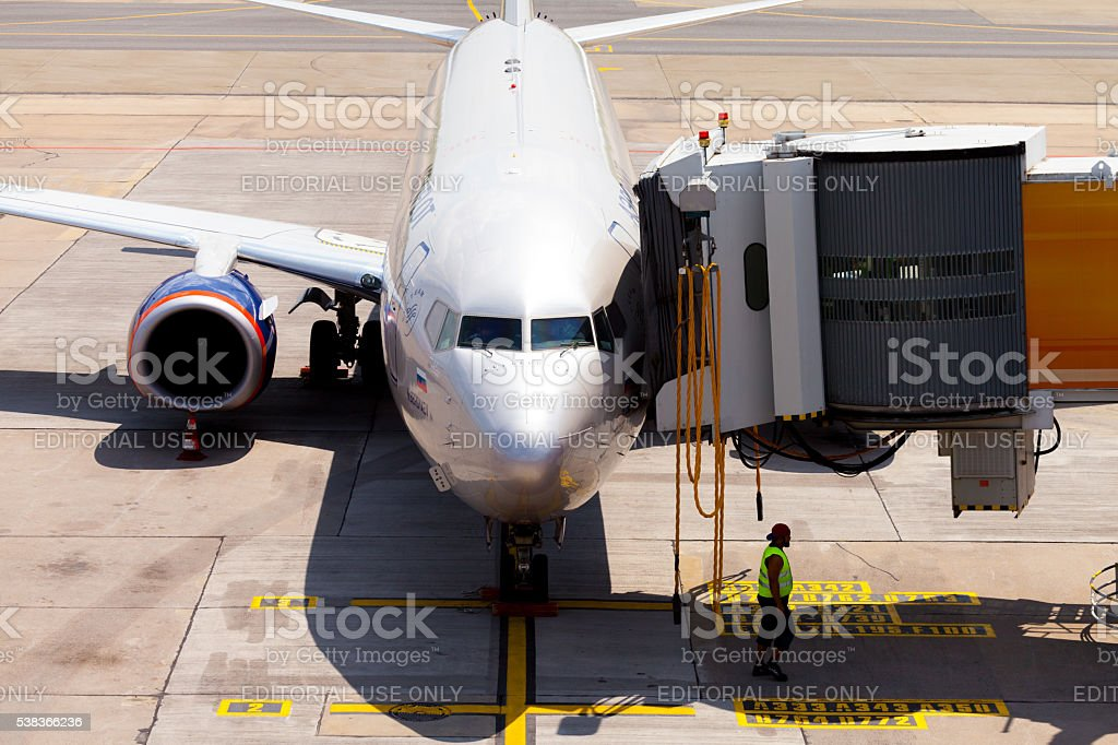 Aeroflot - Russian Airlines Boeing 737 stock photo