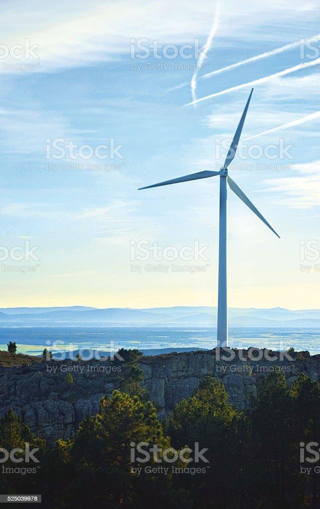 Aerogeneradores Energía Renovable /  Renewable Energy Wind Turbines stock photo