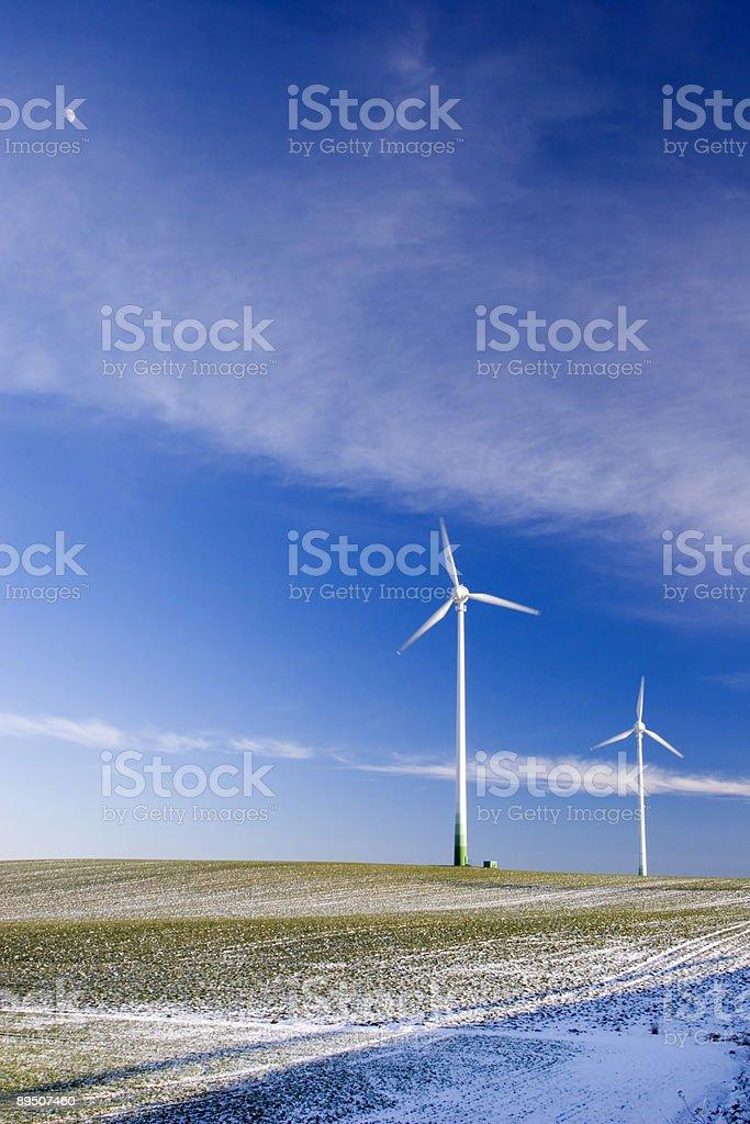 Aerogenerators stock photo