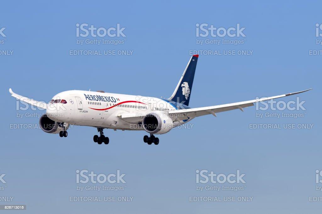 Aeromexico aircraft stock photo