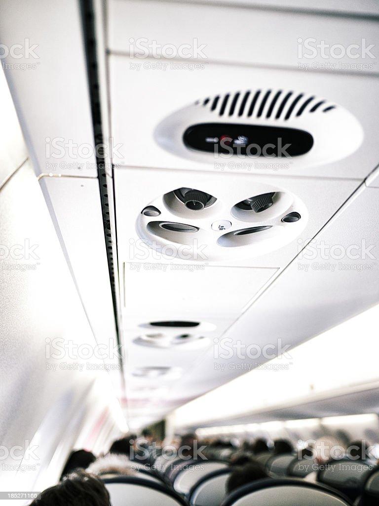 Aeroplane interior royalty-free stock photo