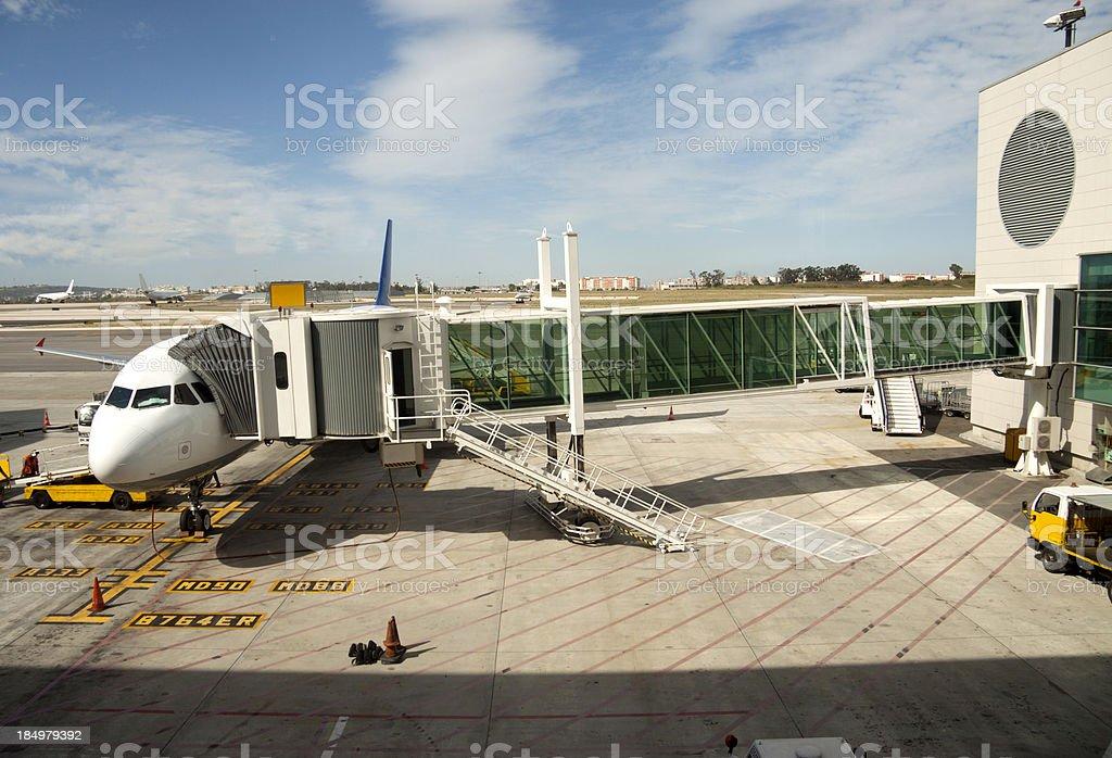 Aeroplane Loading royalty-free stock photo