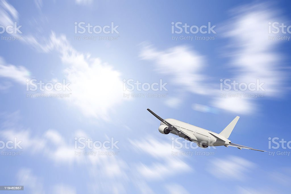 Aeroplane royalty-free stock photo