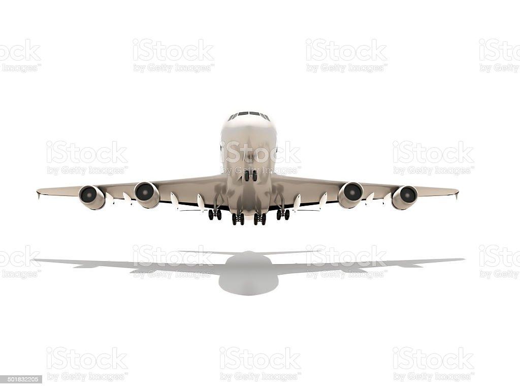 Aeroplane render isolated on white background stock photo