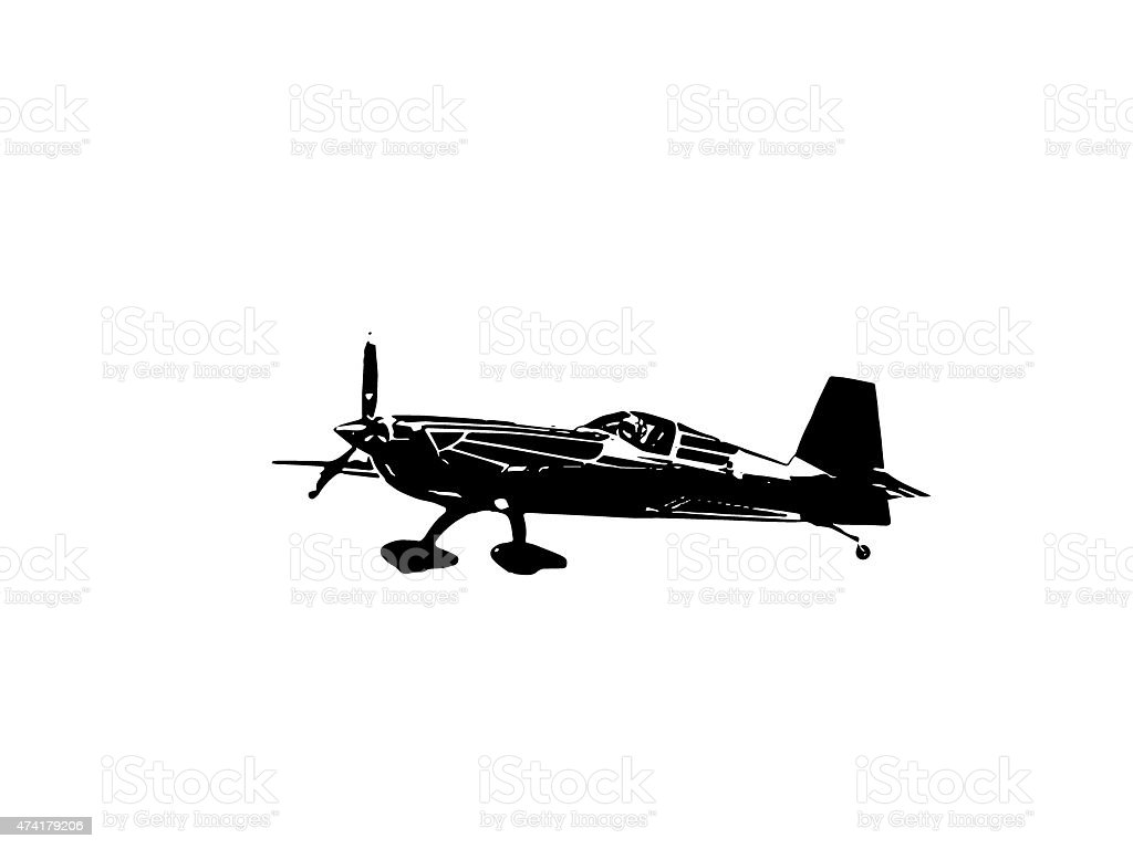 Aeroplane shadow stock photo