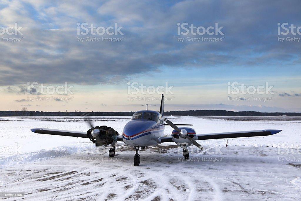 Aeroplane under repair royalty-free stock photo