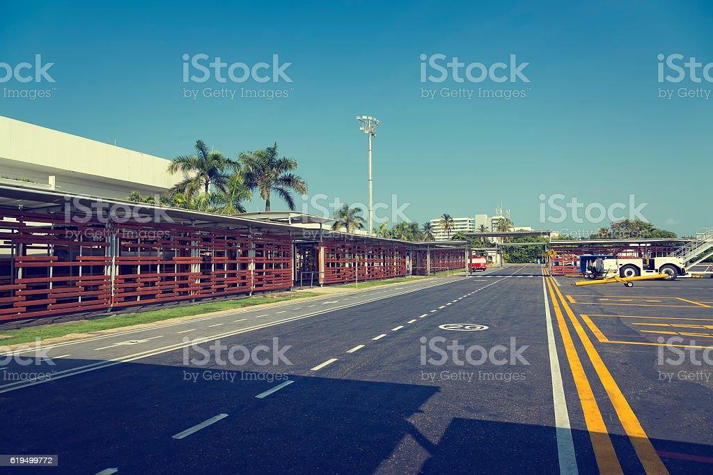 Aeropuerto Internacional Rafael Nuñez Cartagena stock photo