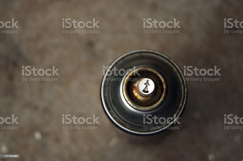 aerosol can top view royalty-free stock photo