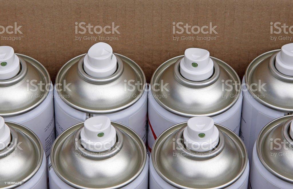 aerosol cans stock photo