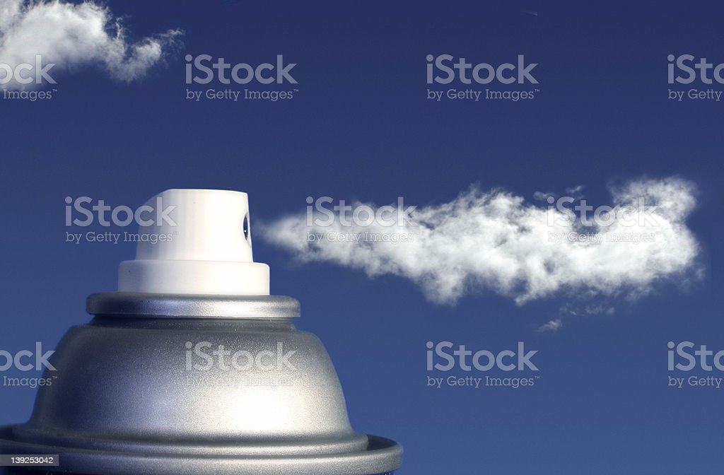 Aerosol stock photo