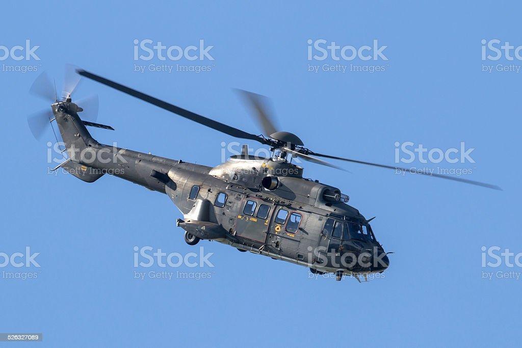 Aerospatiale Super Puma Helicopter stock photo
