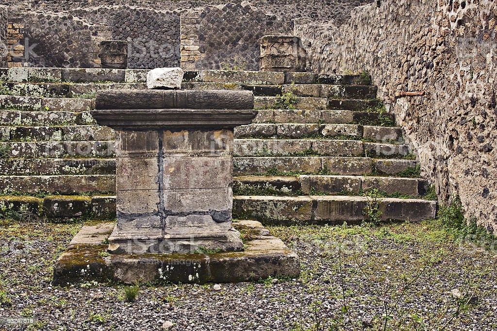 Aesculapius temple, Pompeii, Italy royalty-free stock photo