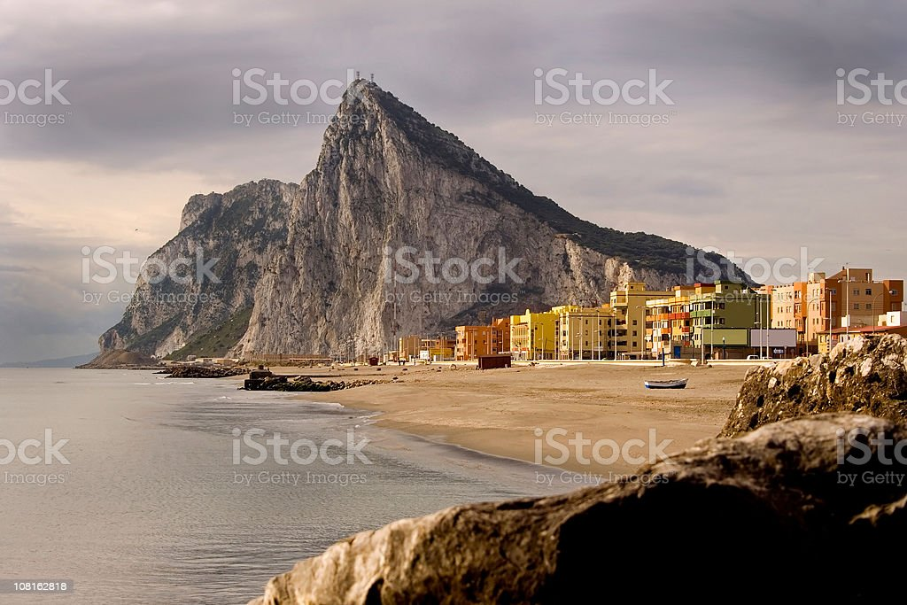 Aesthetic profile of Gibraltar stock photo