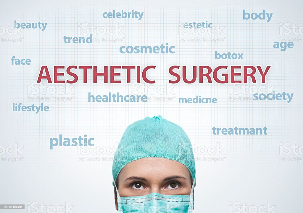 Aesthetic surgery / Medicine concept (Click for more) stock photo