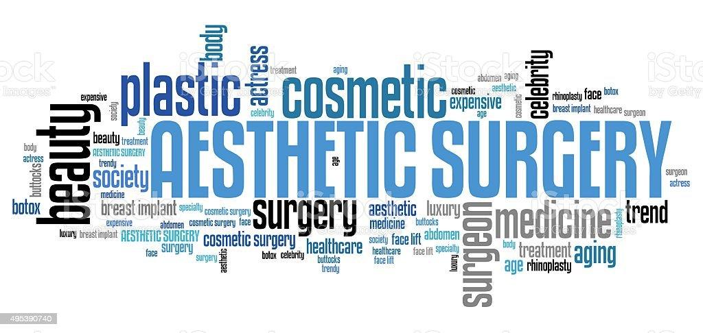 Aesthetic surgery stock photo