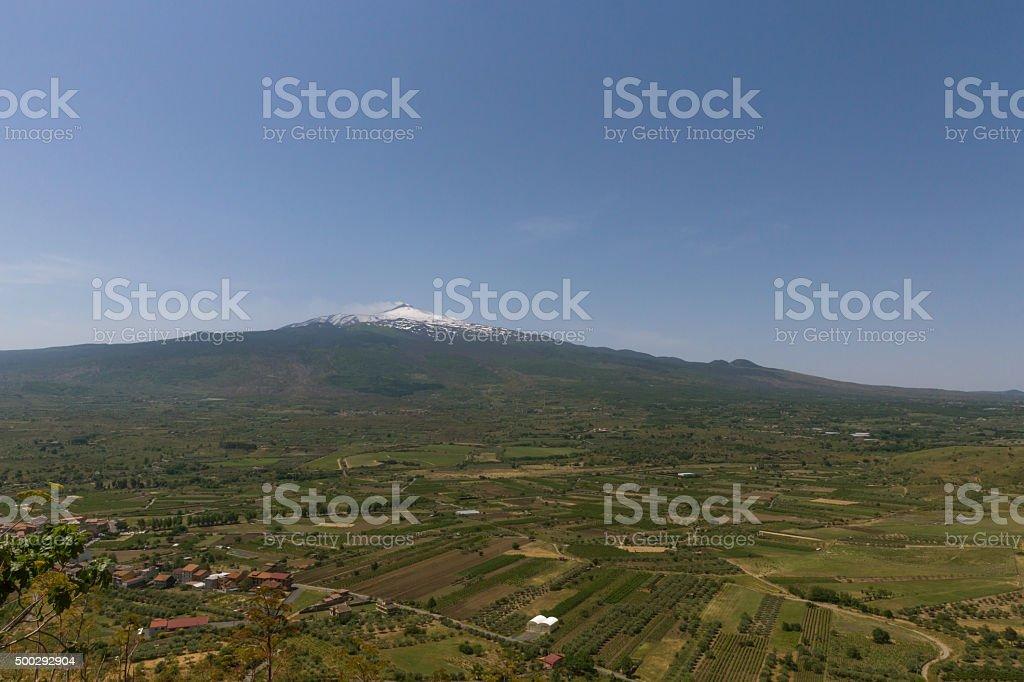 Aetna auf Sizilien Landwirtschaft stock photo