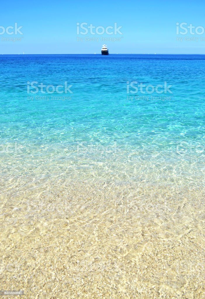 Afales bay at Ithaca Ionian islands Greece stock photo