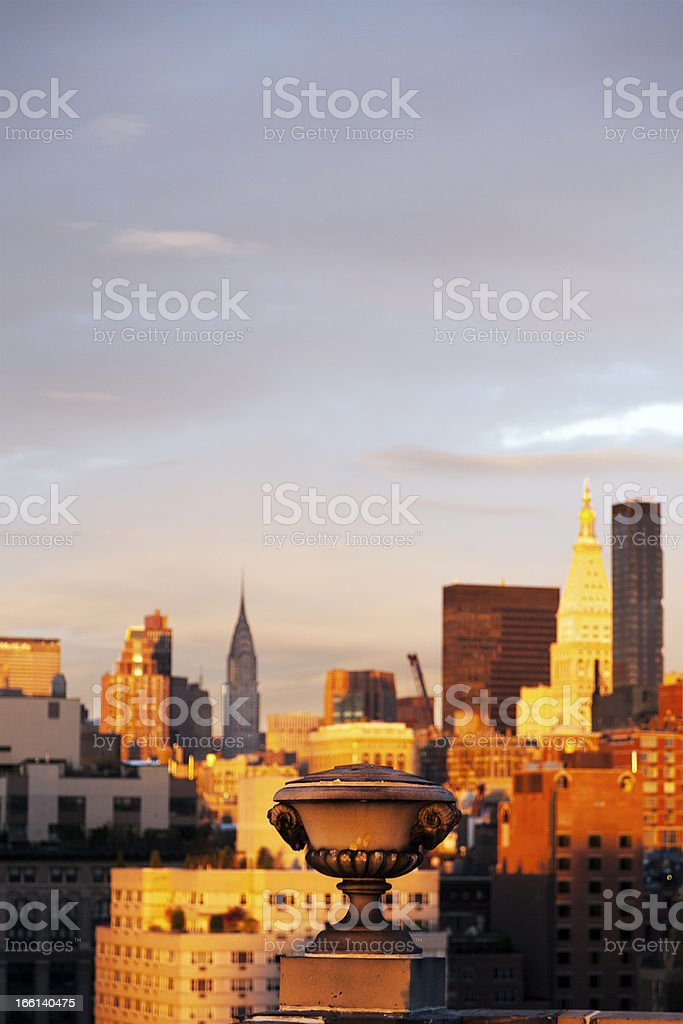 Afernoon NY Building Decoration and Skyline royalty-free stock photo
