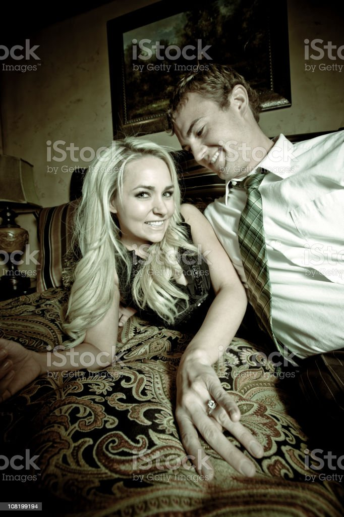 Affair, After Work Betrayal (70's Style) royalty-free stock photo