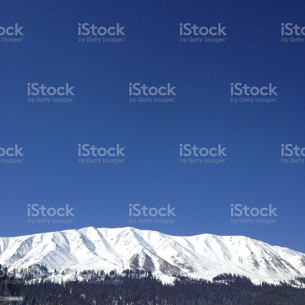 Affarwat view :: Gulmarg, Jammu & Kashmir, India stock photo