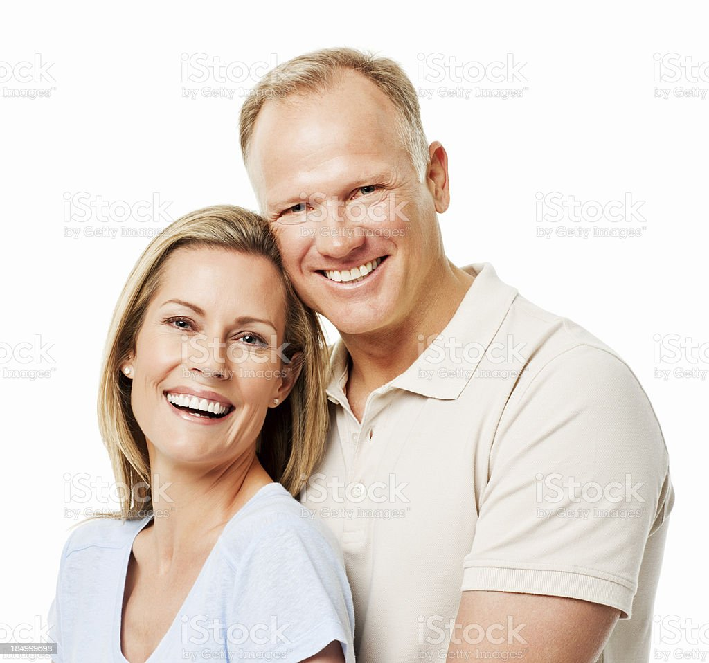 Affectionate Adult Couple - Isolated royalty-free stock photo