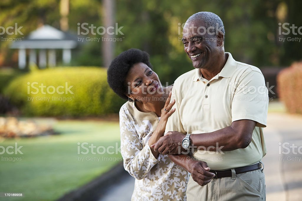 Affectionate African American couple royalty-free stock photo