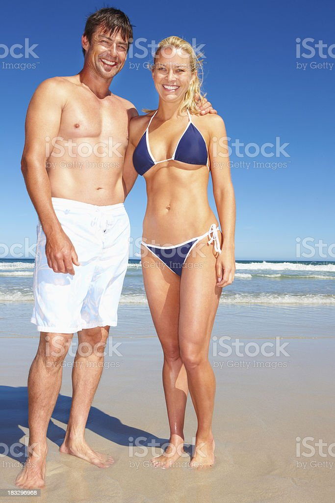 Affectionate couple posing royalty-free stock photo