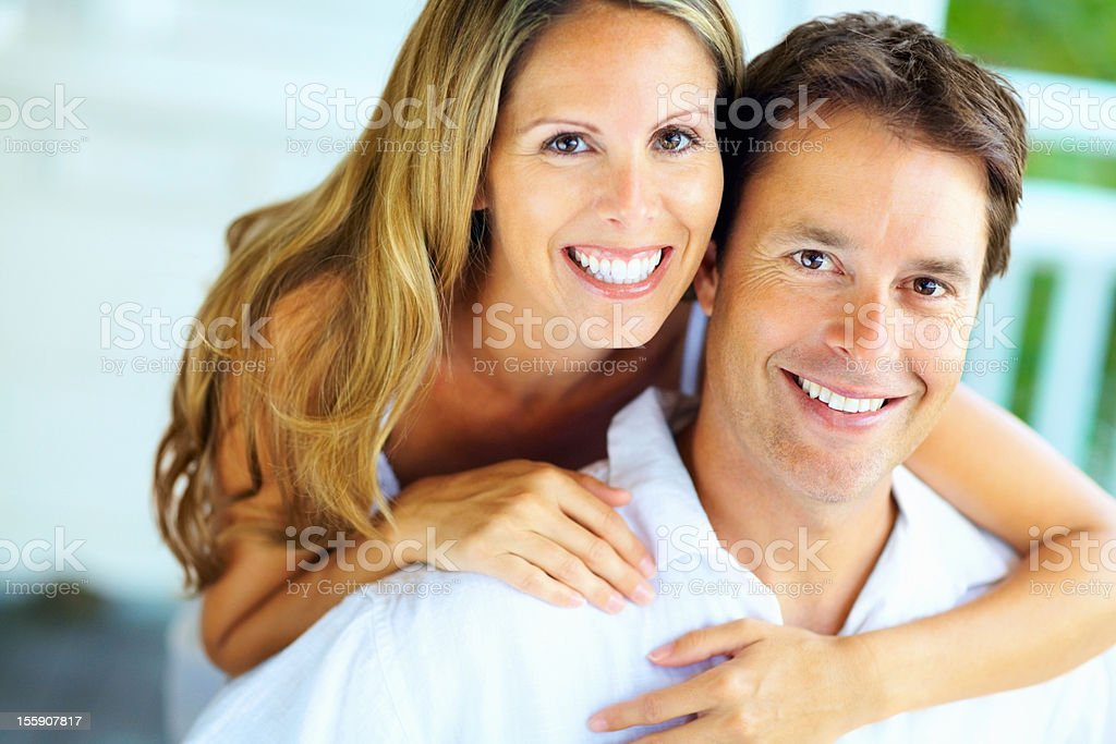 Affectionate couple taking a moment royalty-free stock photo