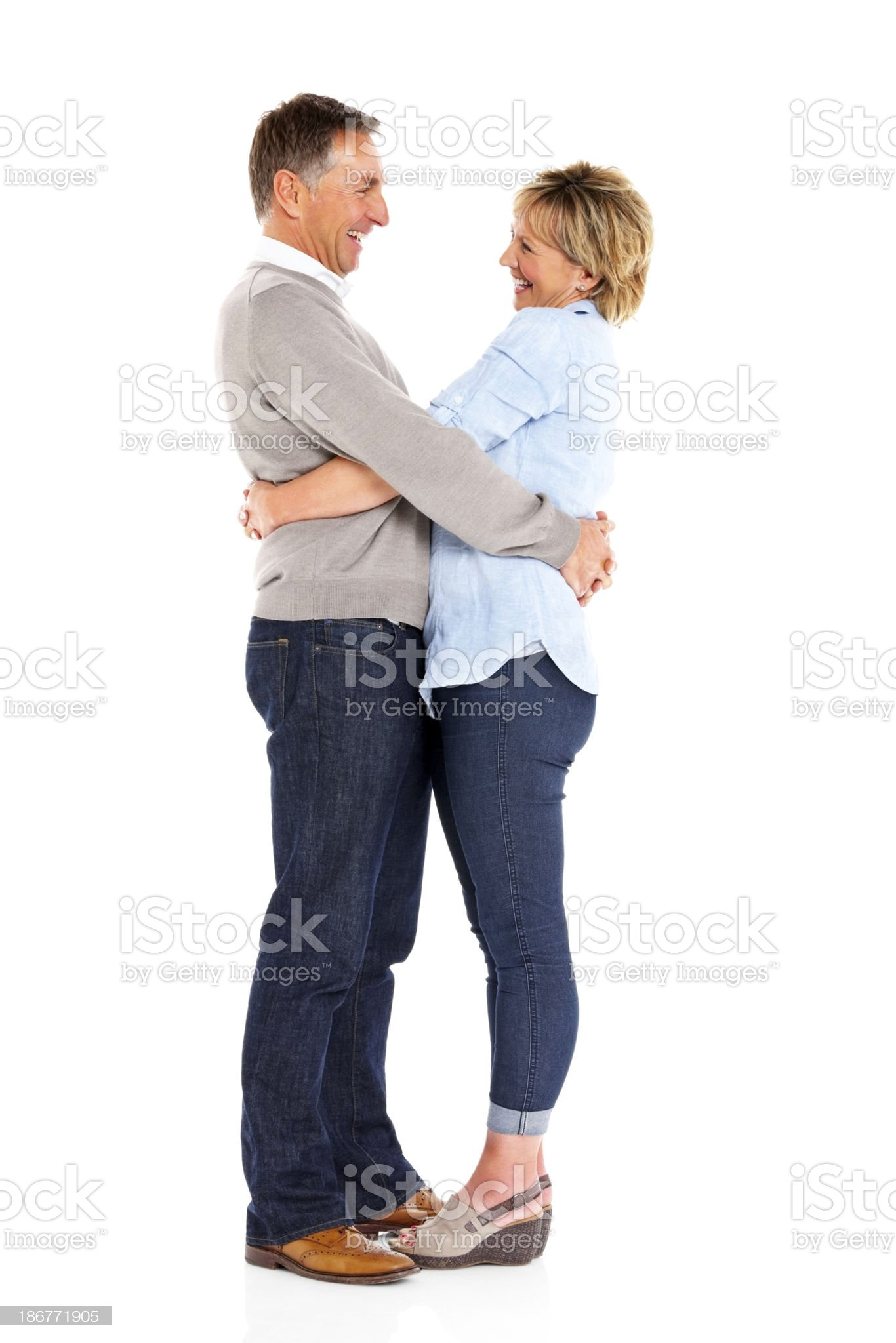 Affectionate couple with their arms around each othe royalty-free stock photo