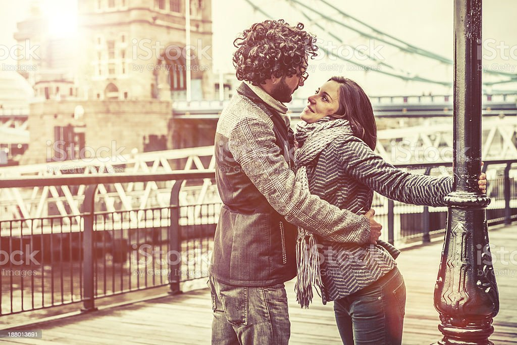 Affectionate Couple, Young Adults in London stock photo