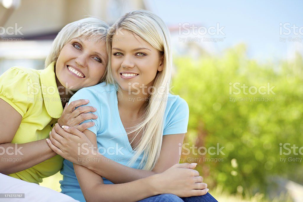 Affectionate daughter royalty-free stock photo