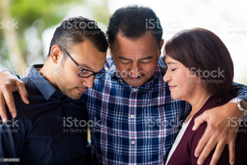 Affectionate family stock photo