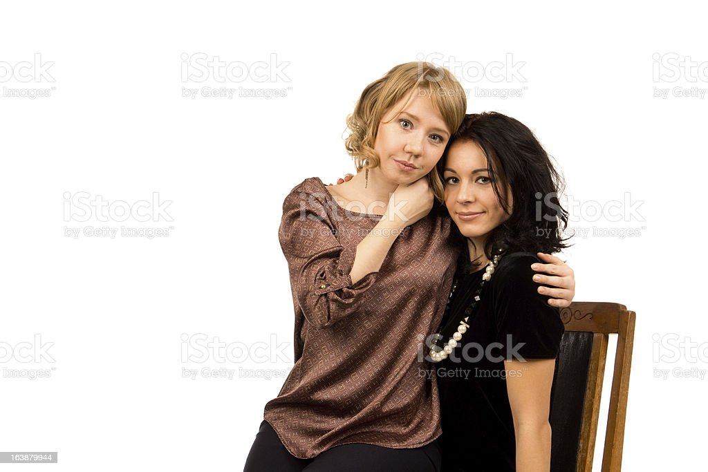 Affectionate female friends royalty-free stock photo