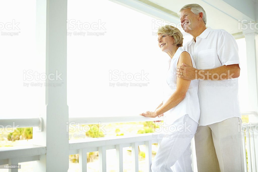 Affectionate older couple royalty-free stock photo